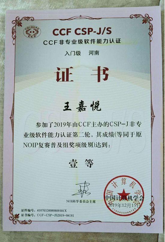 柯岚老师指导的小学生获得中学组奥赛奖项 图1