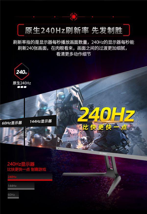 240Hz!易美逊虎天翼Ⅱ新曲面电竞显示器用过再也回不去!图2
