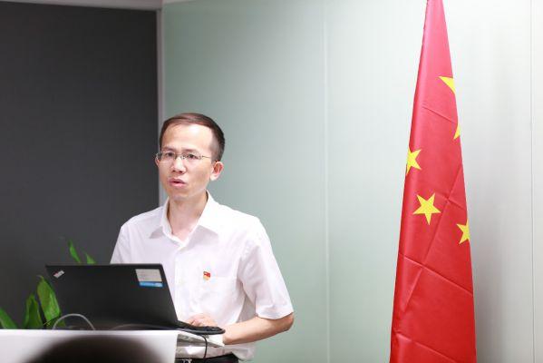 中关村科学城党工委非公党建工作处副处长曹舟讲话