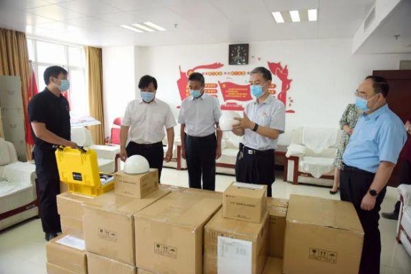 司南导航向河南省测绘地理信息技术中心捐赠设备助力灾后重建 图1